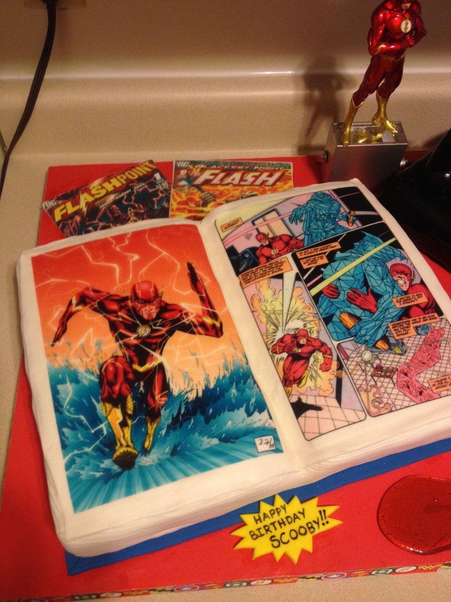 flash comic book playstation 3 bottle cake cakecentralcom