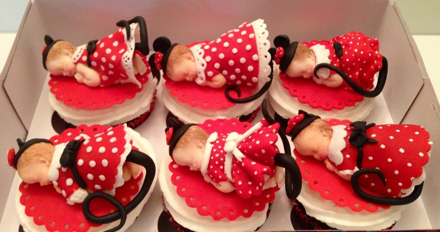 Minnie Mouse Baby Cupcakes - CakeCentral.com