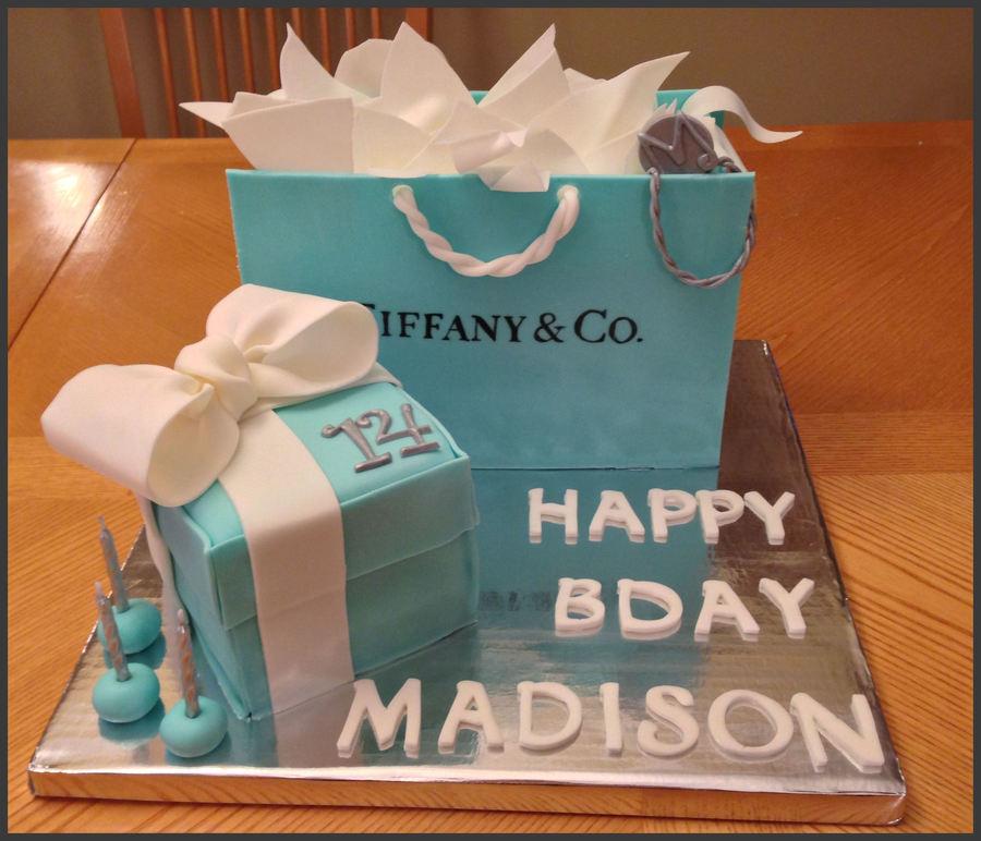 Awe Inspiring Tiffany Co Birthday Cake Cakecentral Com Funny Birthday Cards Online Benoljebrpdamsfinfo