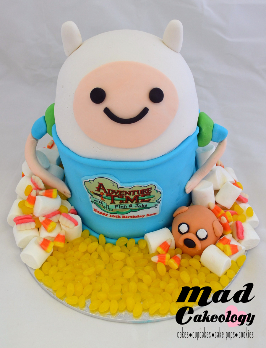 Awesome Adventuretime With Finn Jake Birthday Cake Cakecentral Com Funny Birthday Cards Online Fluifree Goldxyz