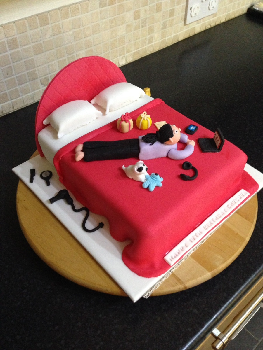 18Th Birthday Bed Cake Design For A Friends Niece on Cake Central