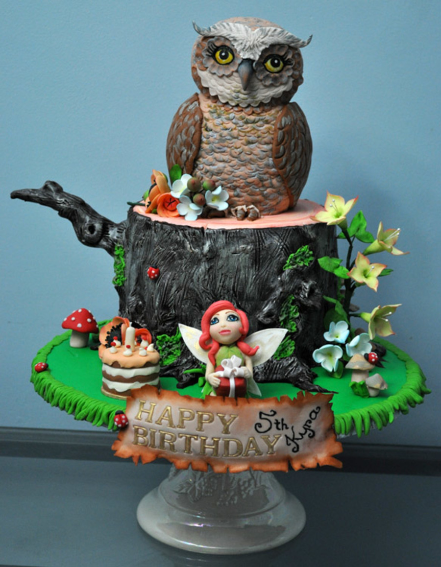 My Daughters Fairy Forest Cake For Her 5th Birthday The