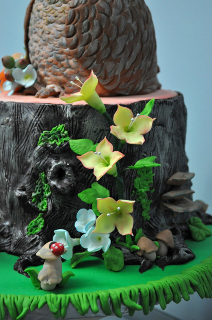 Fairy Forest Cake With Sculpted Owl For My Daughters
