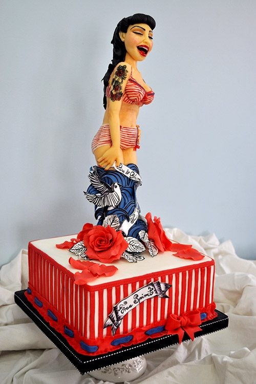 Astonishing Pin Up Girl Cake Cakecentral Com Funny Birthday Cards Online Sheoxdamsfinfo