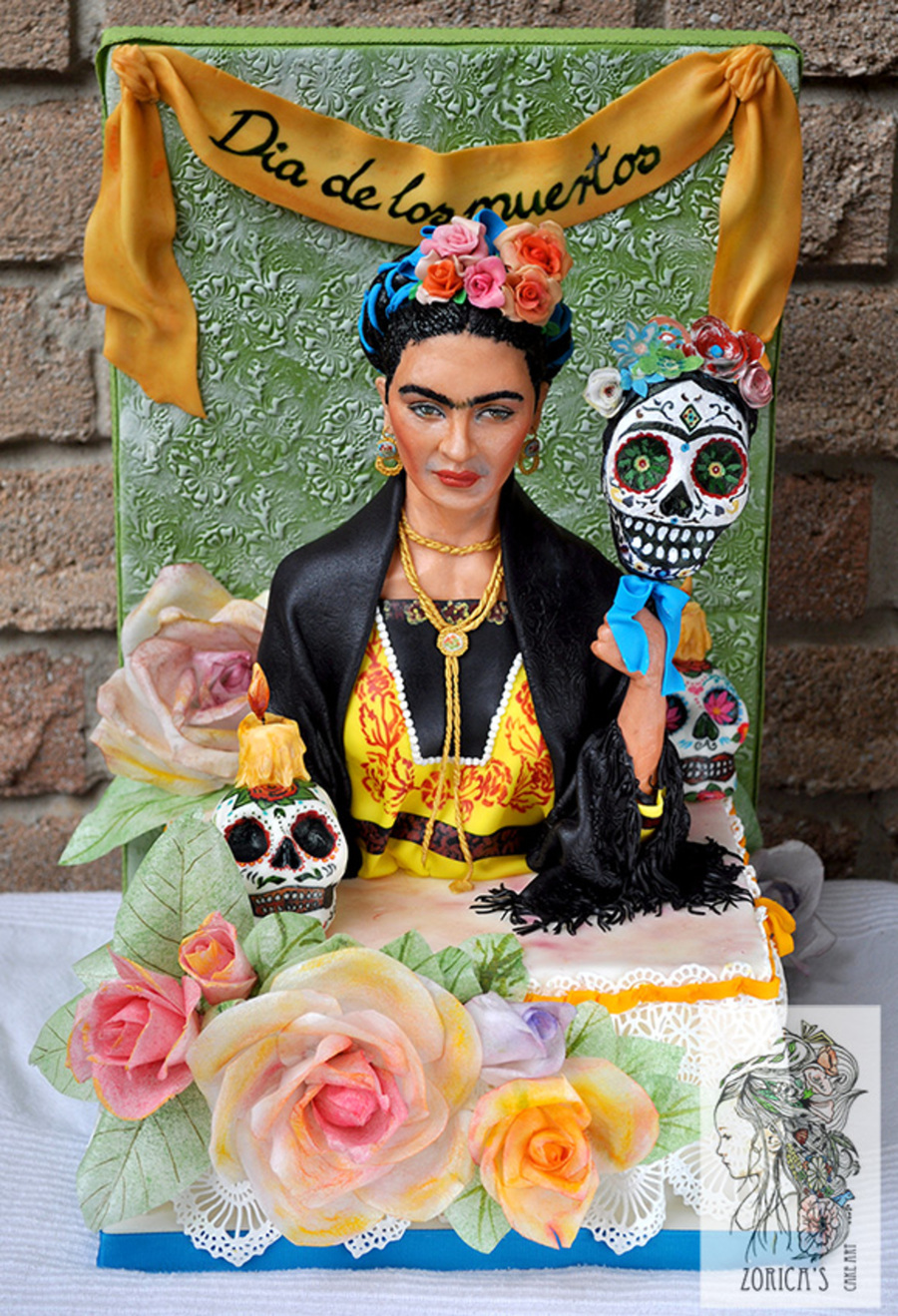 Frida Kahlo Cake For Dia De La Muertos Sugar Skull Bakers