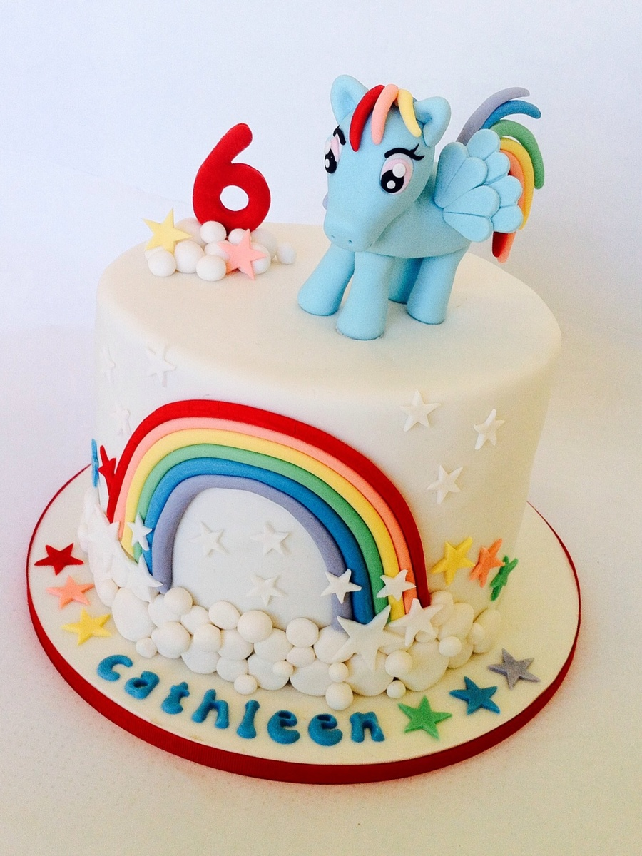 My Little Pony Rainbow Dash;) Love This Cake Xxxxxxxxx on Cake Central