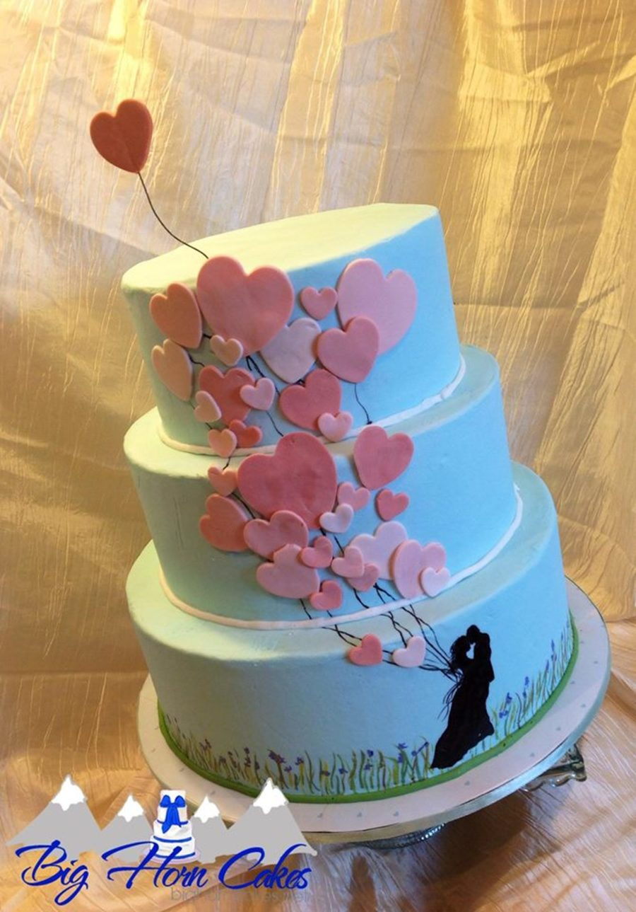 Balloon Silhouette Romantic Cake on Cake Central