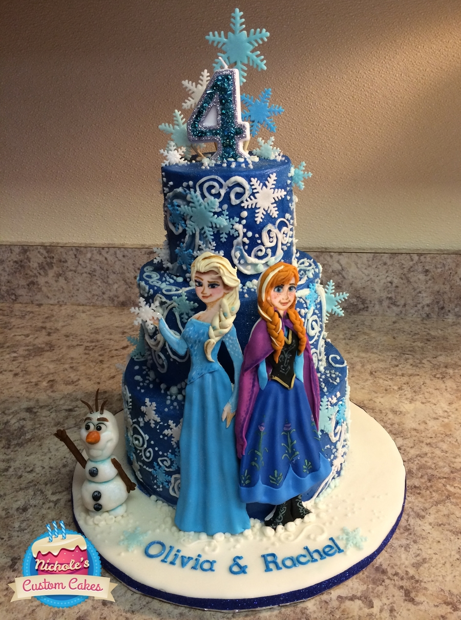 elsa birthday cake frozen birthday cake this cake was three layers 8 6 and 4 3886