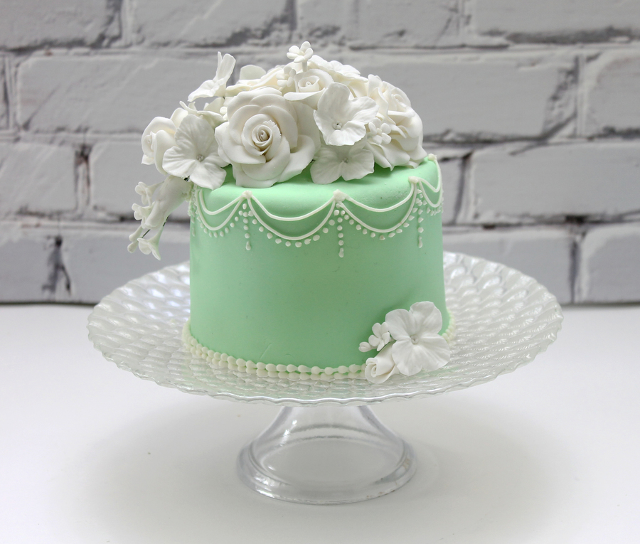 Mint Color Cake