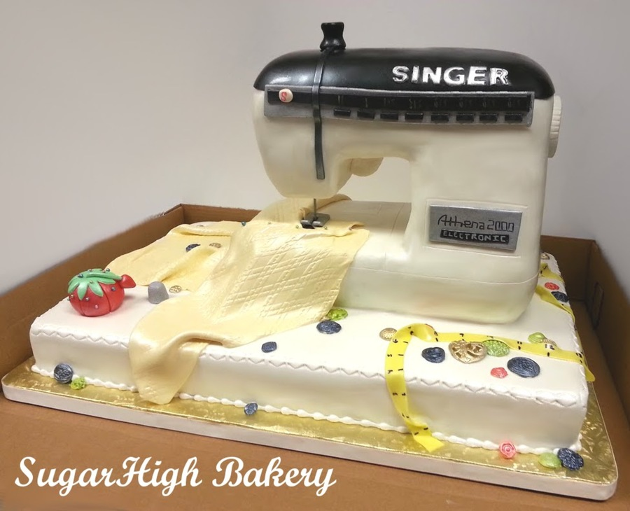 Sewing Machine Cake Cakecentral Com
