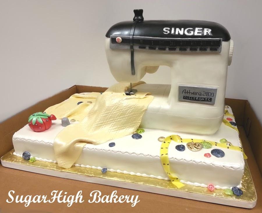Sewing Machine Cake - CakeCentral.com