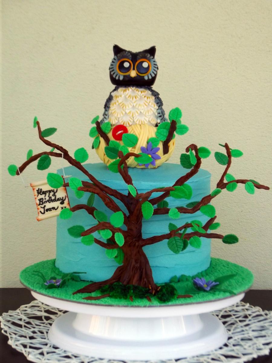 Owl Themed Cake Cakecentral Com