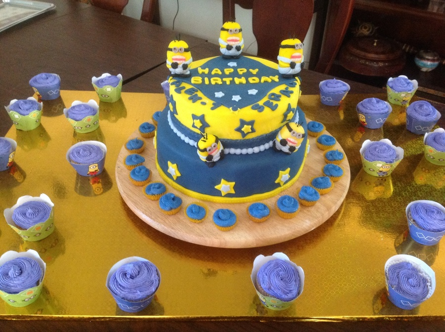 Stupendous Despicable Me Birthday Cake Cakecentral Com Funny Birthday Cards Online Fluifree Goldxyz
