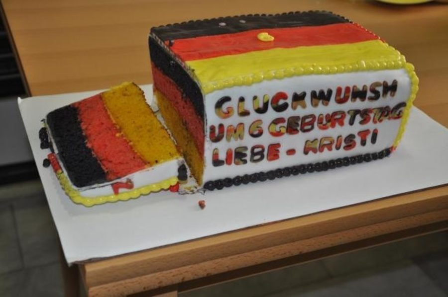 German Flag Birthday Cake Cakecentral
