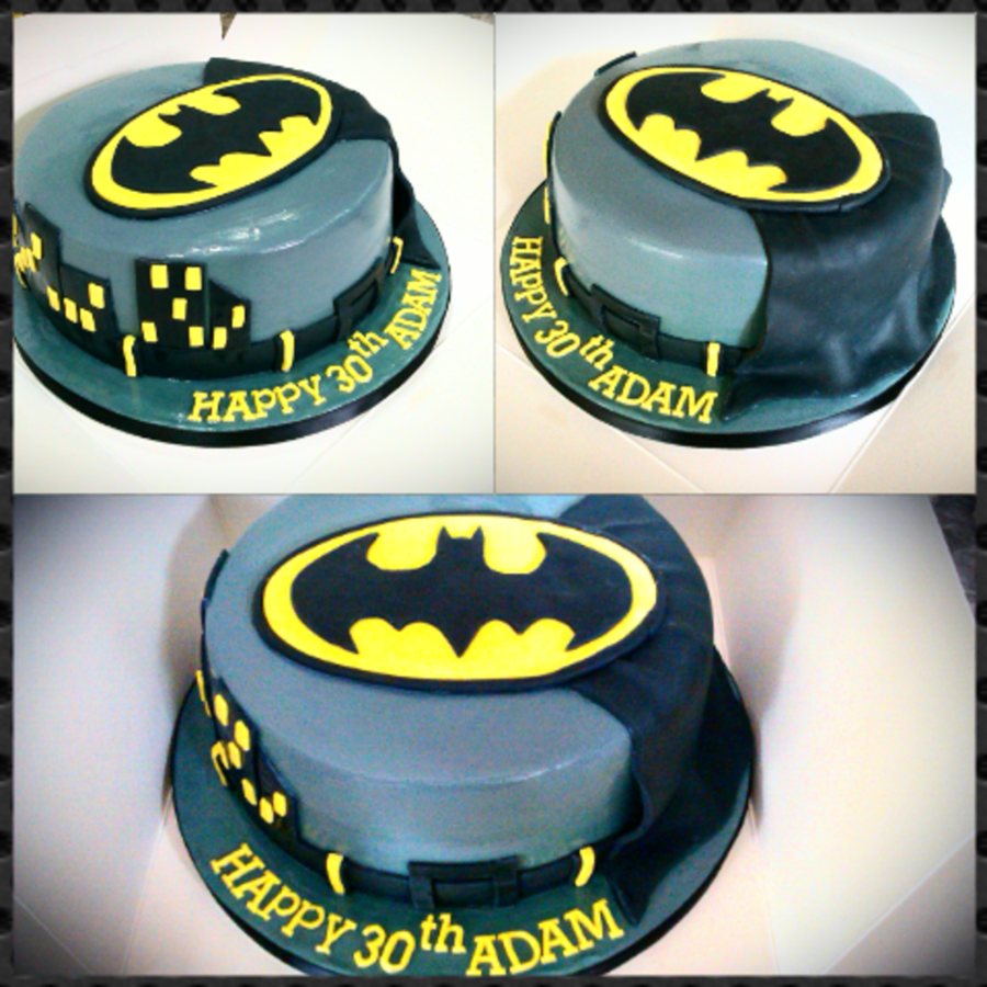 Simple Batman Cake Cakecentral Com