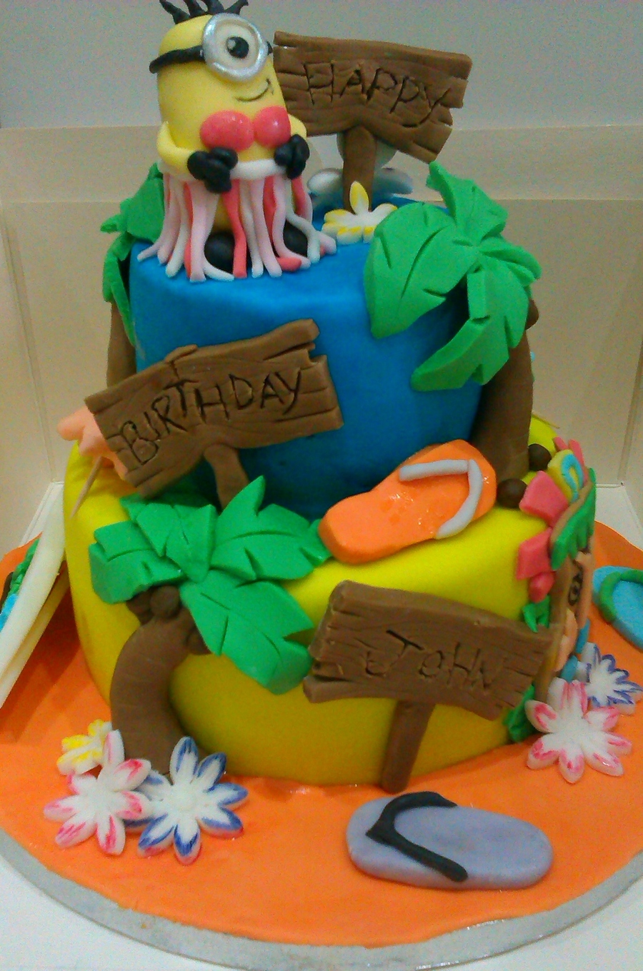Fabulous Hawaii Theme Birthday Cake Cakecentral Com Funny Birthday Cards Online Overcheapnameinfo