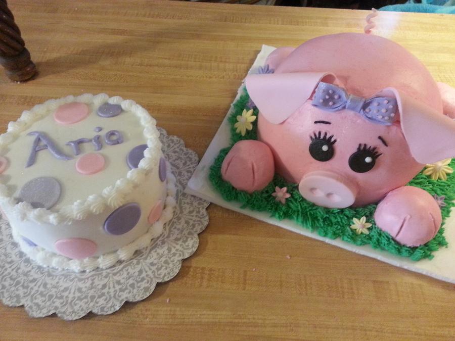 Birthday Cakes I Made For A Little Girls 1st Birthday Buttercream