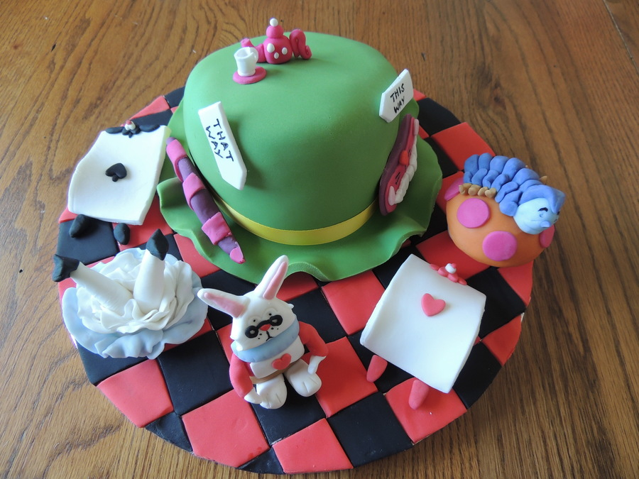 Cute Alice In Wonderland Cake For A Friends Daughter on Cake Central