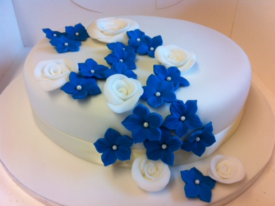 Cake For A Blue Sapphire Wedding Anniversary 65 Years on Cake Central