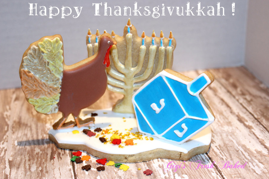Happy Thanksgivukkah! on Cake Central