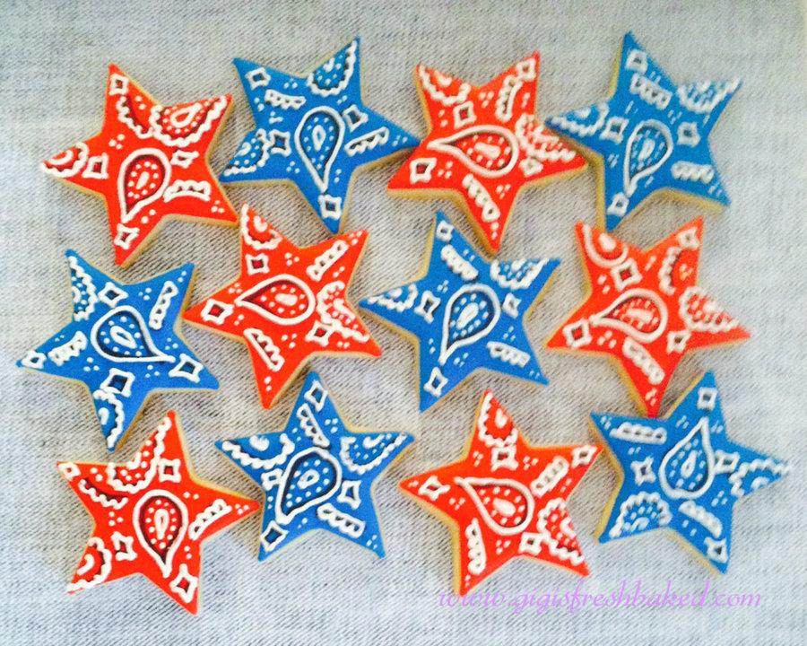 Bandana Star Cookies! on Cake Central