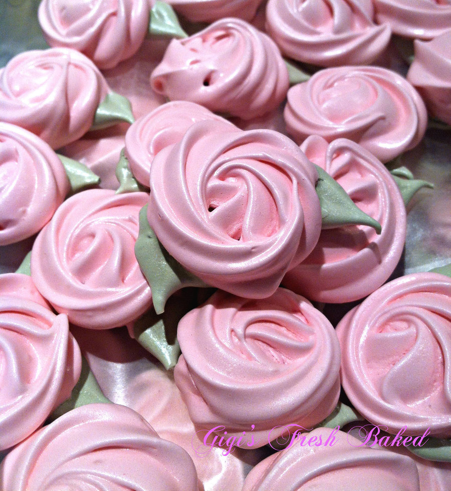 Rose Meringue Cookies! on Cake Central