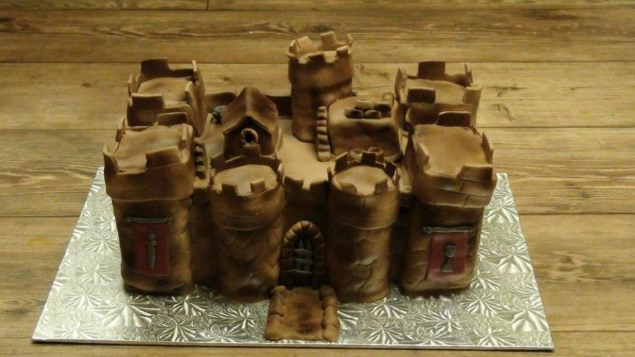 3 D Castle Cake I Made For My Husbands Birthday It Was A Lot Of Work And A Huge Learning Experience on Cake Central