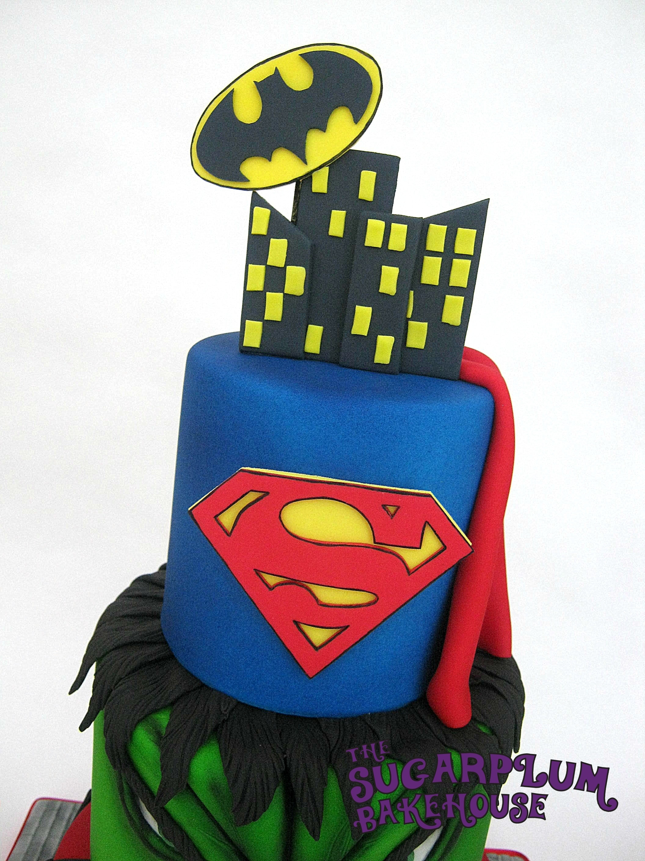 3 Tier Mini 3 Tier Marvel Dc Superhero Birthday Cake CakeCentralcom