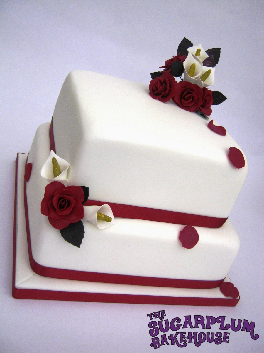 2 Tier Square Wedding Cake Cakecentral Com