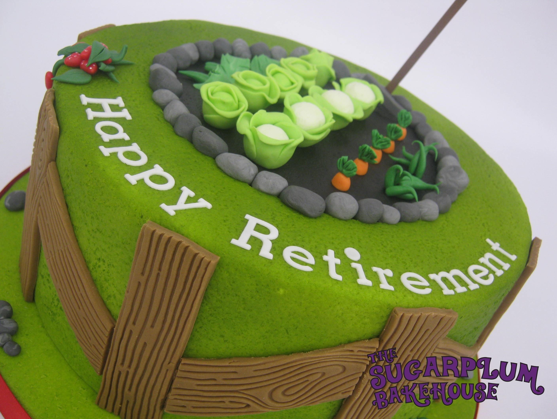 Garden / Allotment Themed Retirement Cake - CakeCentral.com