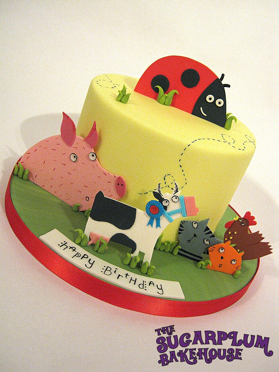 What The Ladybird Heard Birthday Cake Cakecentral Com