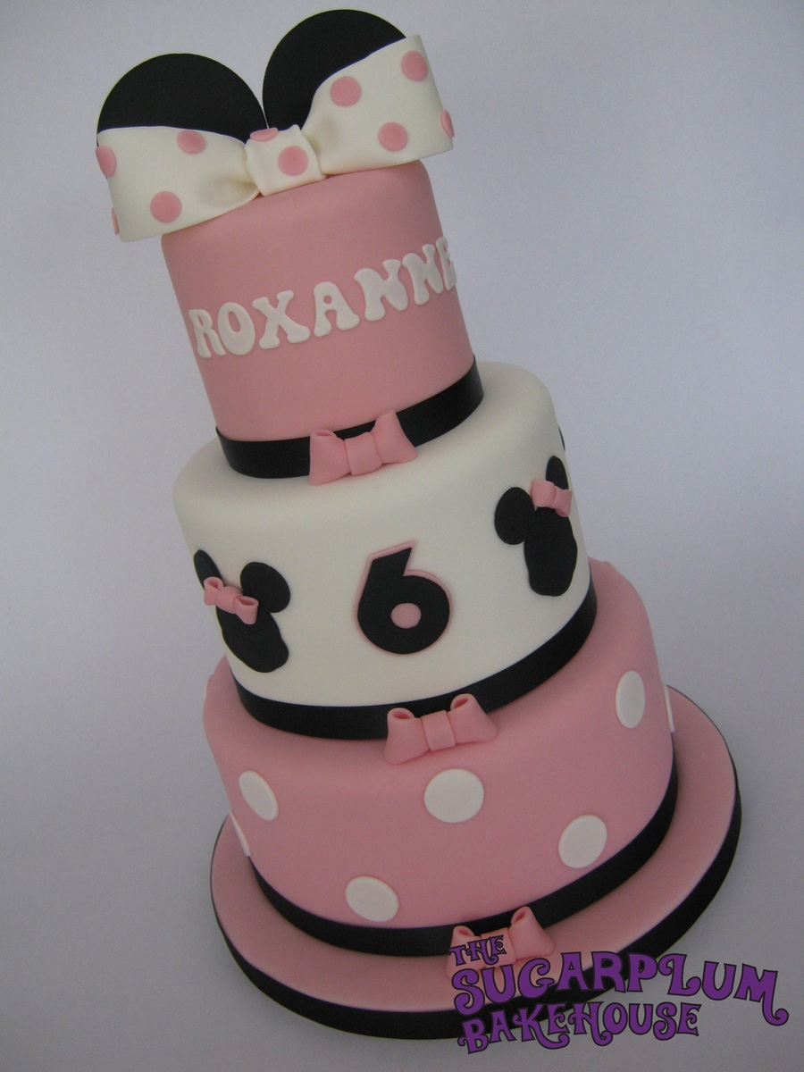 Mini 3 Tier Minnie Mouse Birthday Cake Cakecentral Com