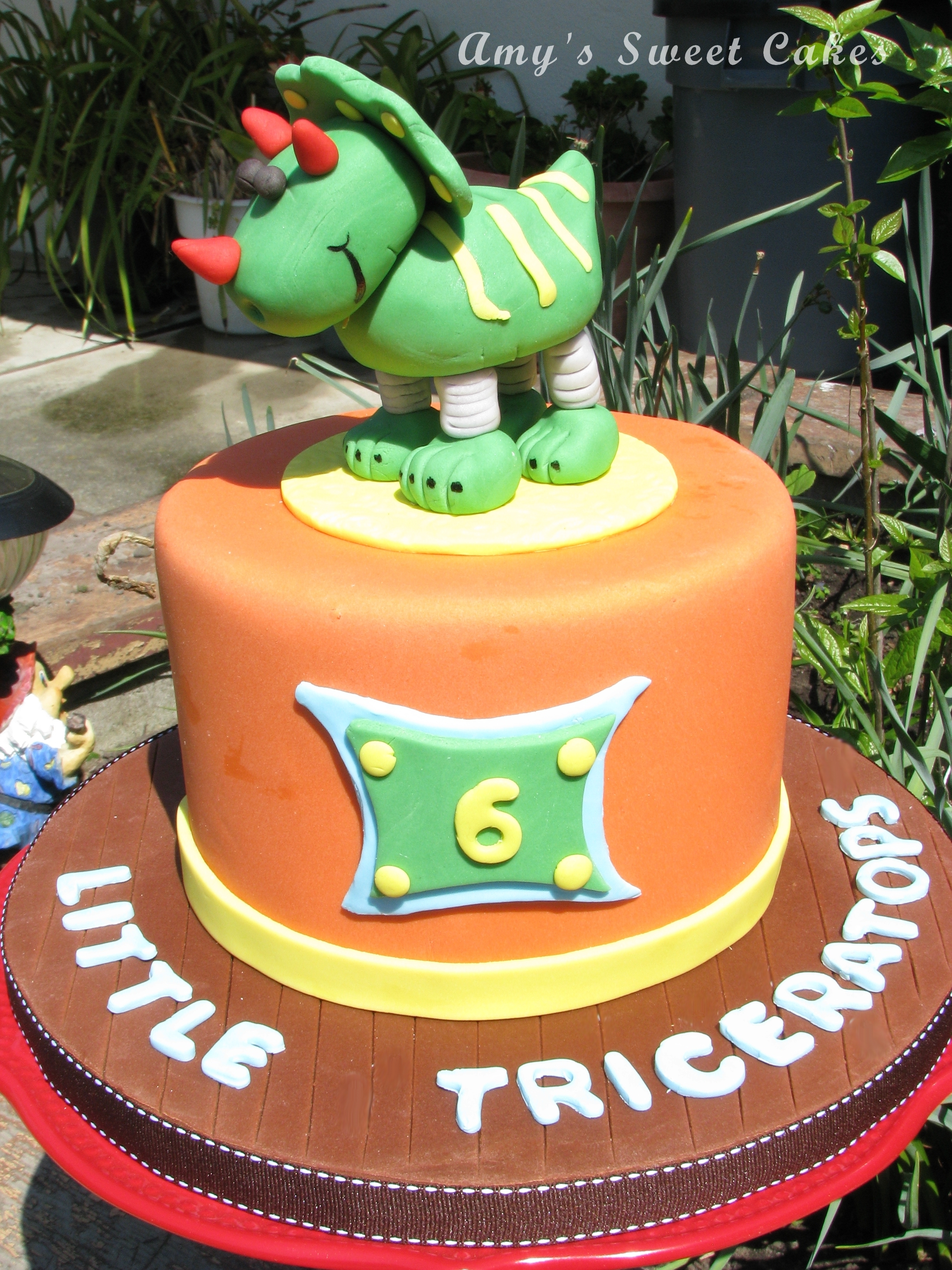 Fondant Triceratops Piggy Bank On Springs Cakecentral
