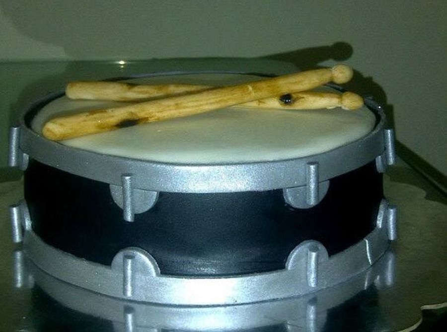 I Was Excited To Make A Drum Cake For A Drummer For The