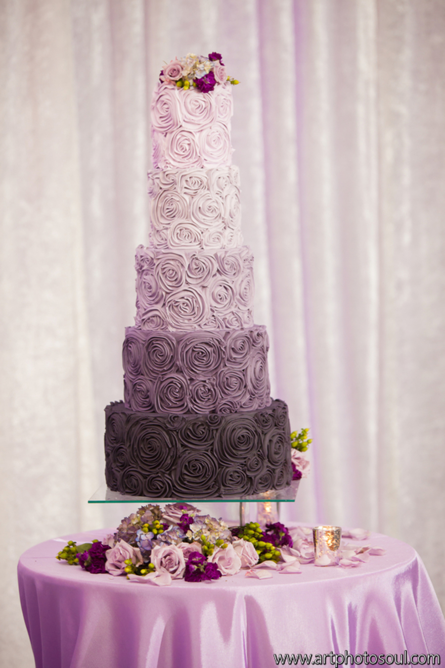purple wedding cake images ombri wedding cake cakecentral 18918