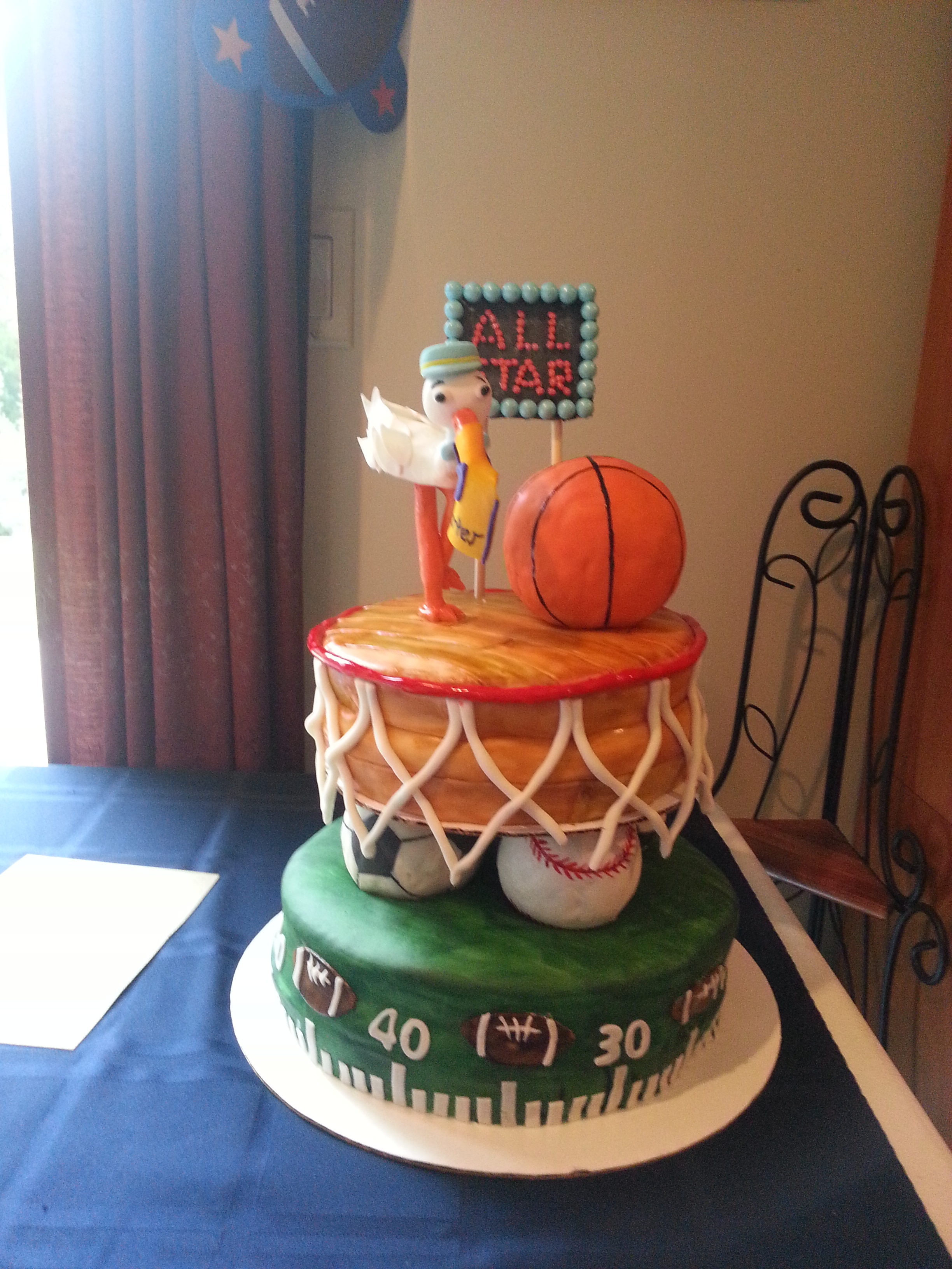 Sports Themed Baby Shower Cake Cakecentral