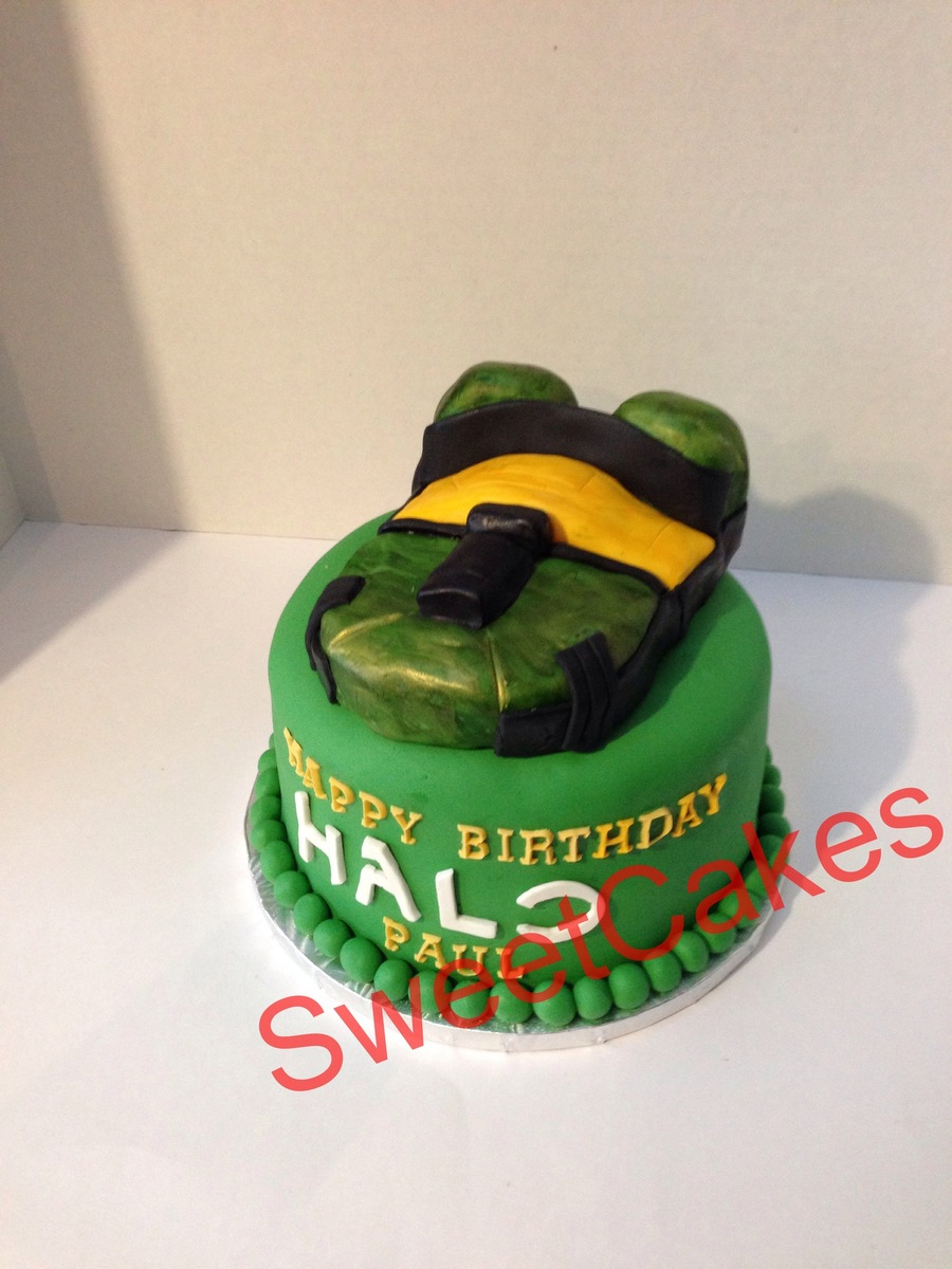 Halo Game Birthday Cakethis One Gave Me A Hard Time Just Creating A Design For It on Cake Central