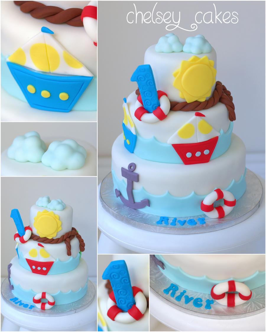 Wondrous Nautical Themed 1St Birthday Cake Cakecentral Com Funny Birthday Cards Online Inifofree Goldxyz