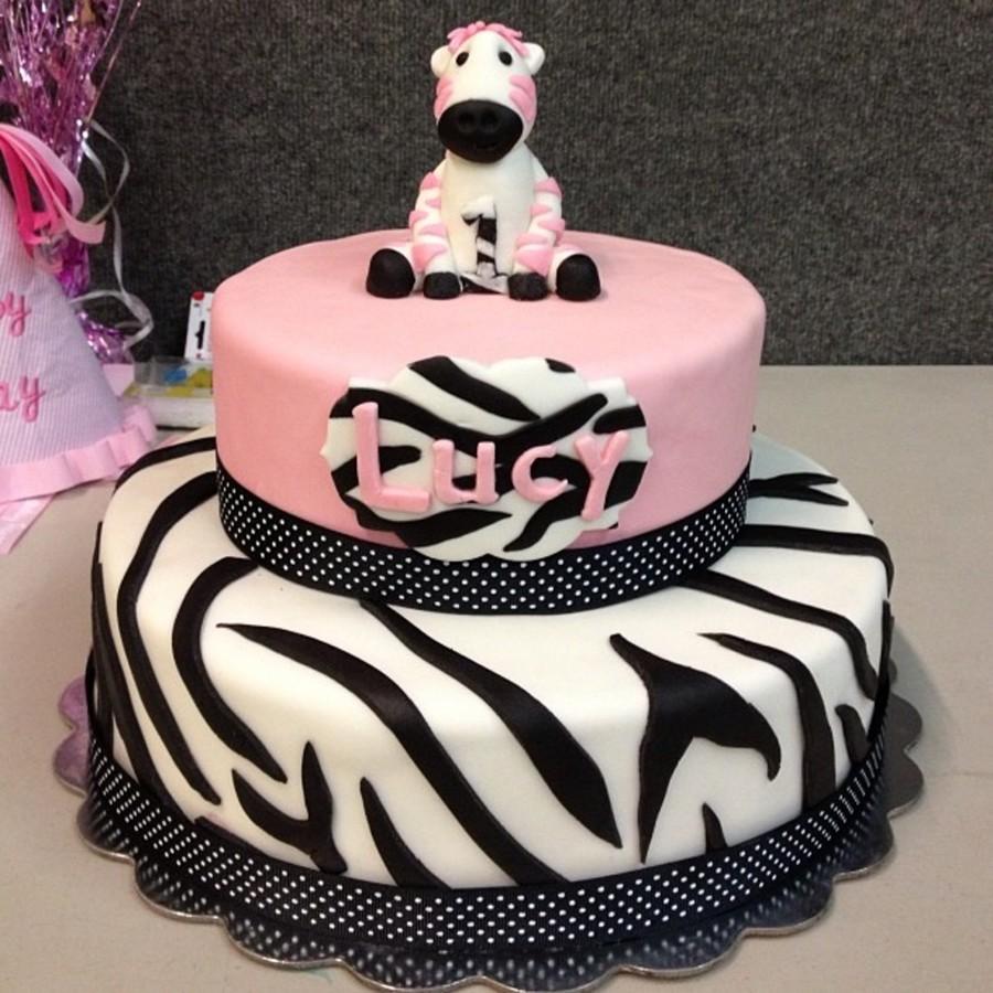 Pink Zebra Birthday Cake CakeCentralcom