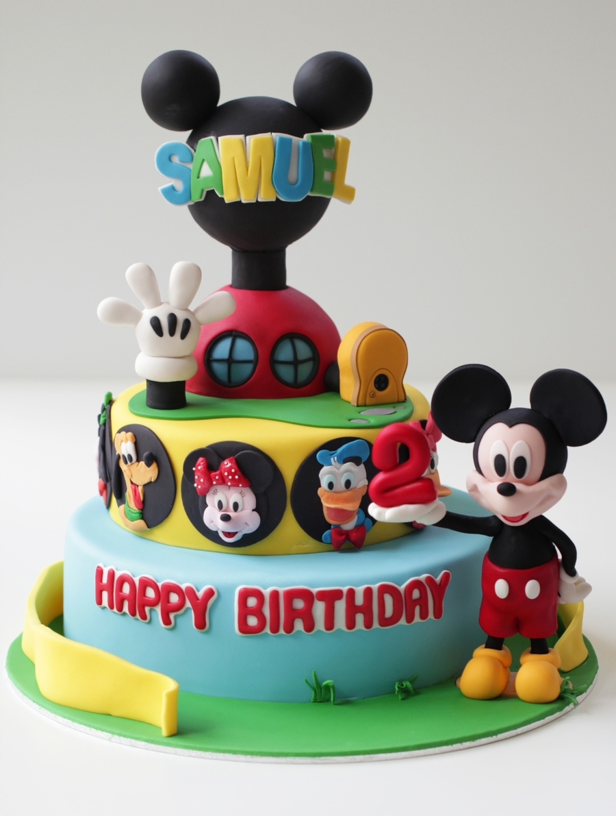 Mickey Mouse Club House Cake This Was My First Character