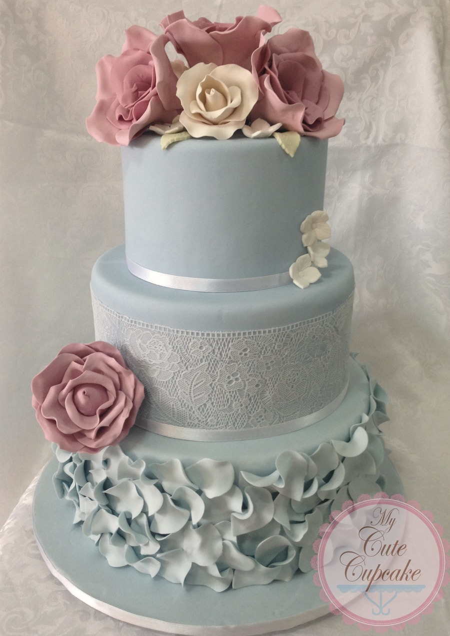 Vintage Rose Wedding Cake Cakecentral Com