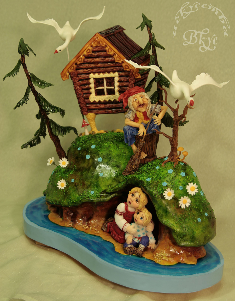 The Cake Created Based On The Russian Folk Tale Geese And Swans on Cake Central