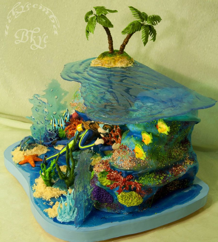 Cake For A Girl Who Enjoys Diving on Cake Central