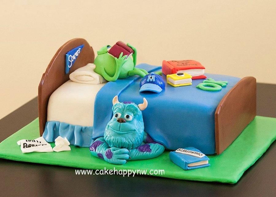 Excellent Monsters University Cakecentral Com Personalised Birthday Cards Epsylily Jamesorg