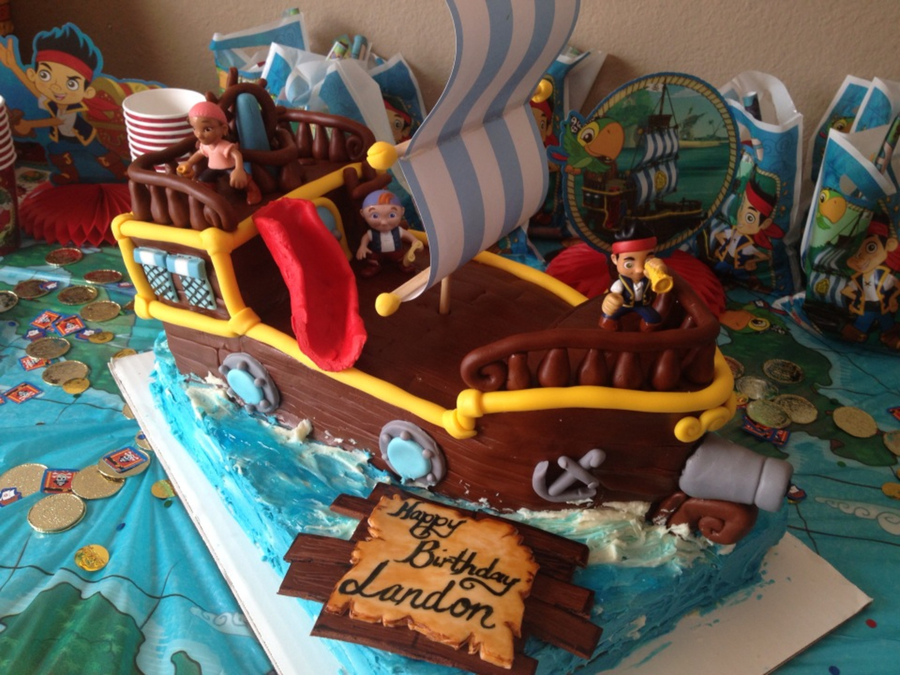 Brilliant Jake And The Neverland Pirates Cake Cakecentral Com Funny Birthday Cards Online Inifodamsfinfo