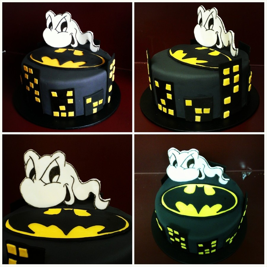This Is A Baby Shower Cake Made For The Daddy To Be The Brief I Was Given Was A Batman Sperm Cake This Is The End Result on Cake Central