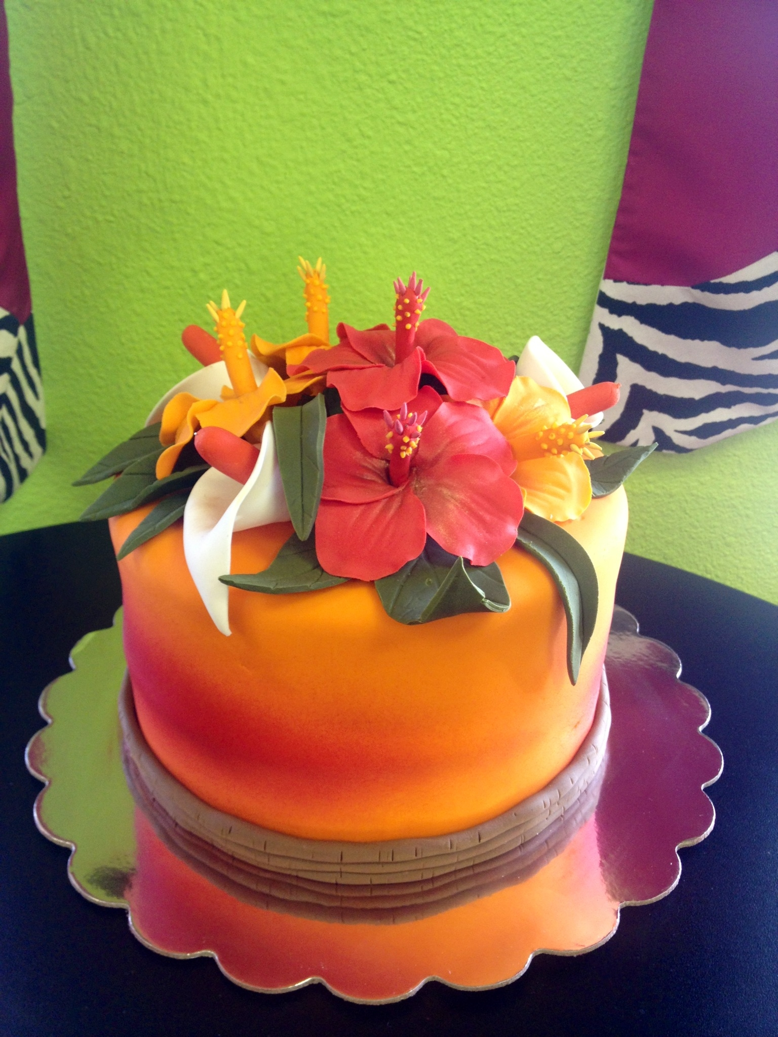 This Is My Sunset In Hawaii Cake That I Made For An Order At Work I