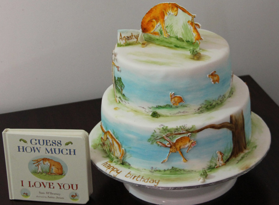 Cake Decorated Like Books : Cake Based On Book Guess How Much I Love You First Attempt ...