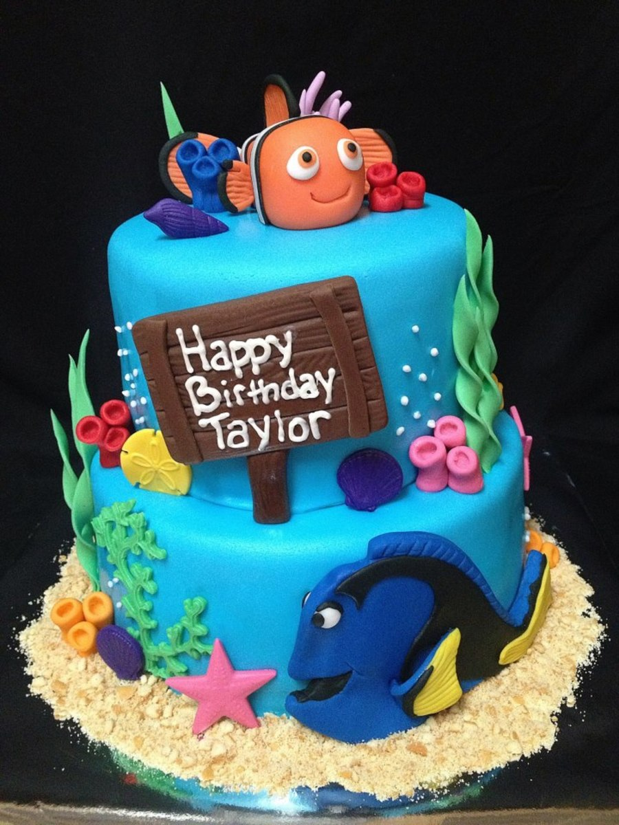 Tremendous Finding Nemo Birthday Cake Cakecentral Com Funny Birthday Cards Online Inifodamsfinfo