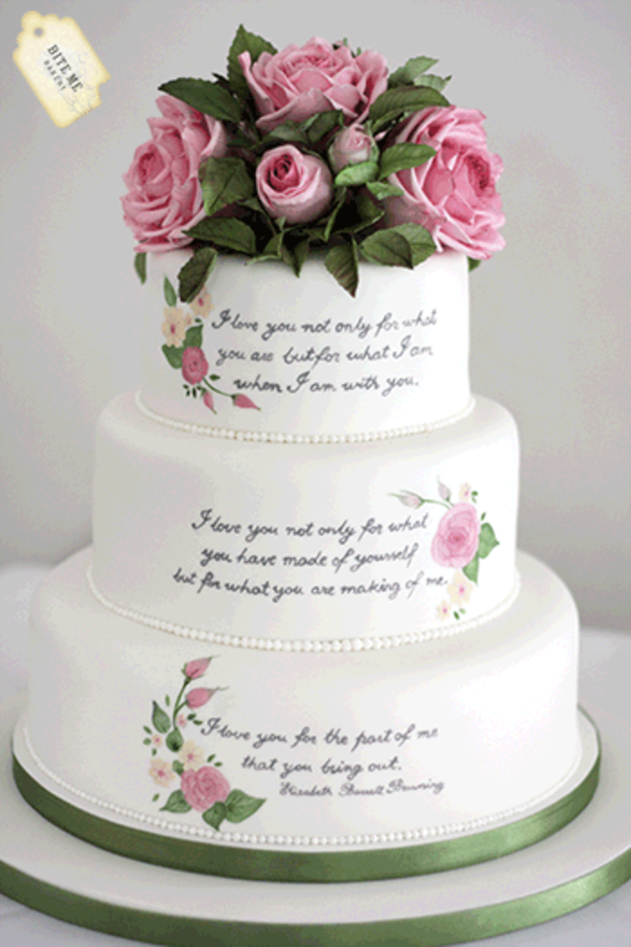 funny wedding cake writing literary themed wedding cake handpainted with the couples 14611